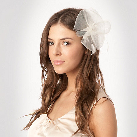 Debut - Ivory meshed flower clip