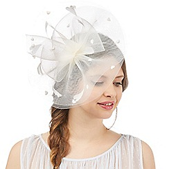 Floozie by Frost French - Ivory pom pom cloud fascinator