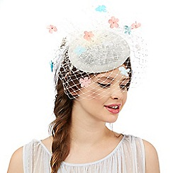 Floozie by Frost French - Ivory flower veil fascinator
