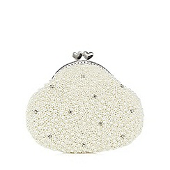 Floozie by Frost French - Ivory pearlescent clutch bag