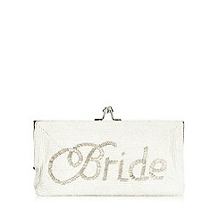 Floozie by Frost French - Ivory beaded 'Bride' clutch bag