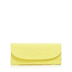 Floozie by Frost French - Yellow floral lace clutch bag