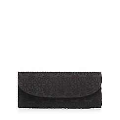 Floozie by Frost French - Black floral lace clutch bag