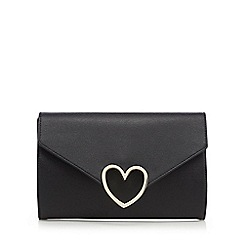Floozie by Frost French - Black heart trim clutch bag