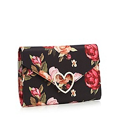 Floozie by Frost French - Multi-coloured floral print clutch bag