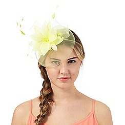 Floozie by Frost French - Yellow feather band fascinator