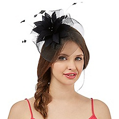 Floozie by Frost French - Black feather band fascinator