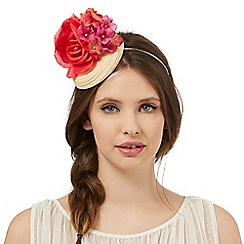 Floozie by Frost French - Red straw flower fascinator