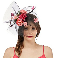 Floozie by Frost French - Black netted flower fascinator