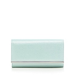 Debut - Light green glittery clutch bag