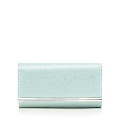 Debut - Light green glittery clutch bag