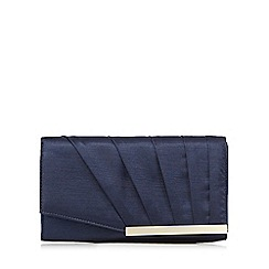 Debut - Navy pleated clutch bag