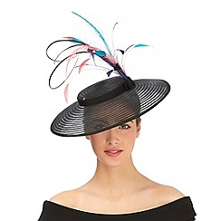 Top Hat by Stephen Jones - Black feather saucer fascinator