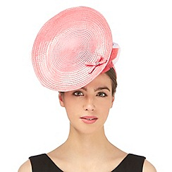 Top Hat by Stephen Jones - Pink flower applique saucer fascinator