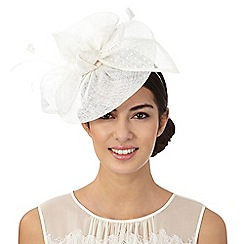 Debut - Ivory polka dot disc fascinator