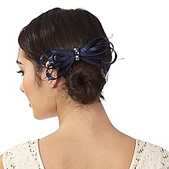 Debut - Navy satin loop clip fascinator