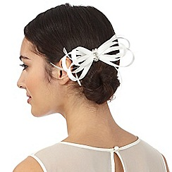 Debut - Ivory satin loop clip fascinator