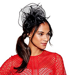 Debut - Black organza flower fascinator