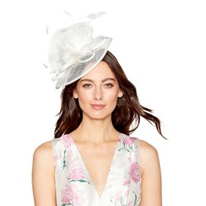 Debut Ivory feather fascinator