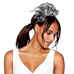 Debut - Dark grey metallic bow fascinator