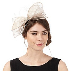 Debut - Gold bow feather fascinator