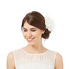 Debut - Ivory feather flower hair clip