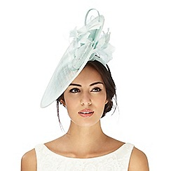 Debut - Aqua feather fascinator