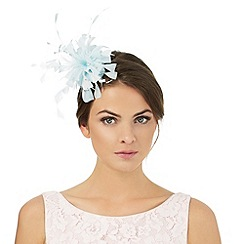 Debut - Turquoise floral applique fascinator