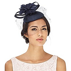 Debut - Navy flower button fascinator