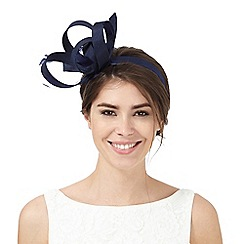 Debut - Navy shantung loop fascinator