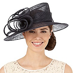 Hatbox - Navy flower swirl hat