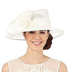 Hatbox - Ivory flower swirl hat