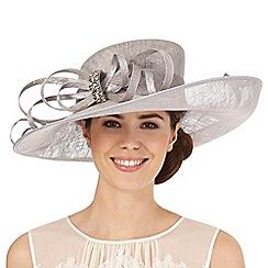 Hatbox - Grey diamante bow hat