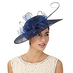 Hatbox - Navy flower saucer fascinator