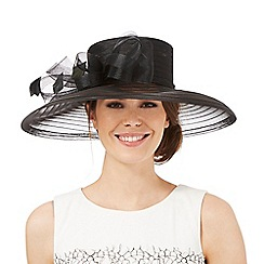 Hatbox - Black bow applique hat