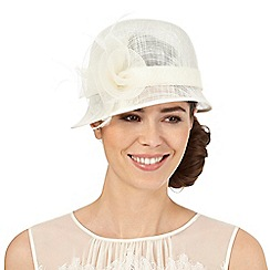 Hatbox - Ivory flower cloche hat