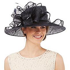 Hatbox - Navy ruffle bow hat