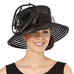 Hatbox - Black rose hat