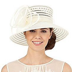 Hatbox - Ivory rose hat