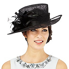 Hatbox - Black feather burst hat