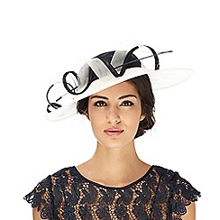 Hatbox - Navy two tone swirl saucer fascinator