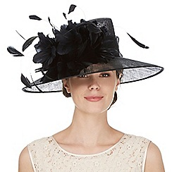 Hatbox - Black flower trumpet hat
