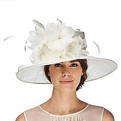Hatbox - Ivory flower trumpet hat
