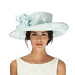 Hatbox - Aqua loop and feather hat