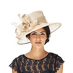Hatbox - Beige feather hat