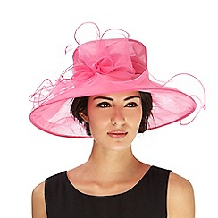 Hatbox - Pink bow fascinator