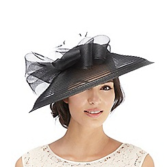 Hatbox - Black mesh bow fascinator