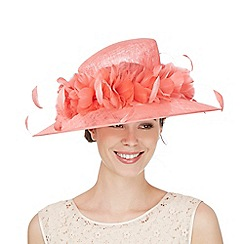 Hatbox - Dark peach feather hat