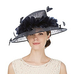 Hatbox - Navy feather hat