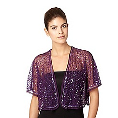Debut - Purple gathered sequin bolero